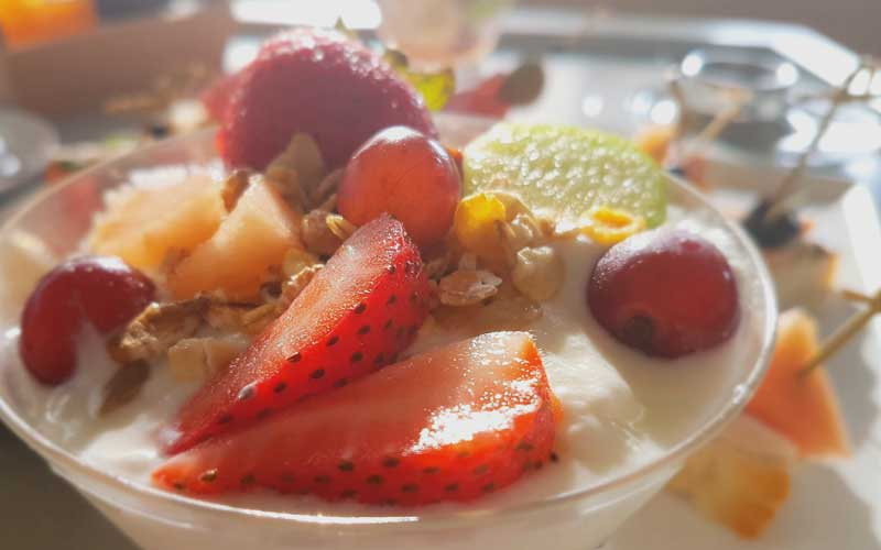 Luxury Charter Delights fresh fruits and Austrian hospitality