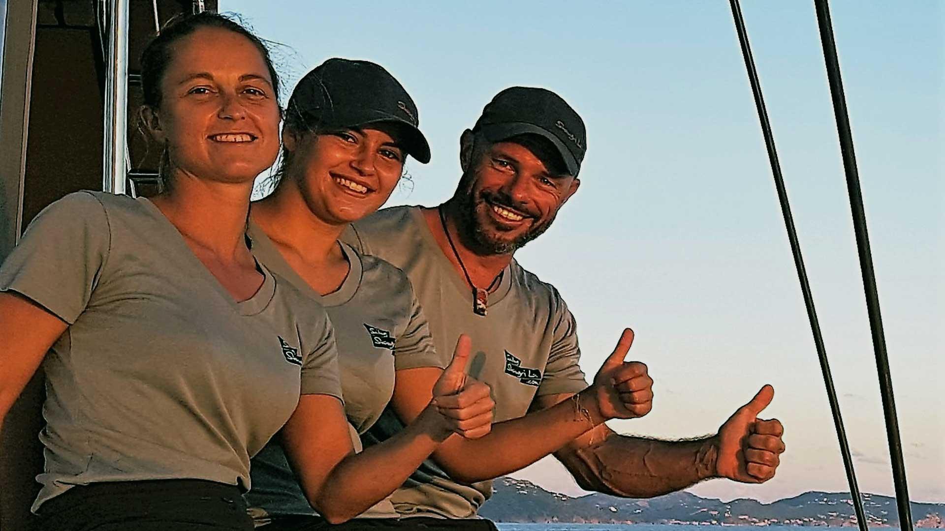 Shangri La Crew, Captain, Chef and Stewardess