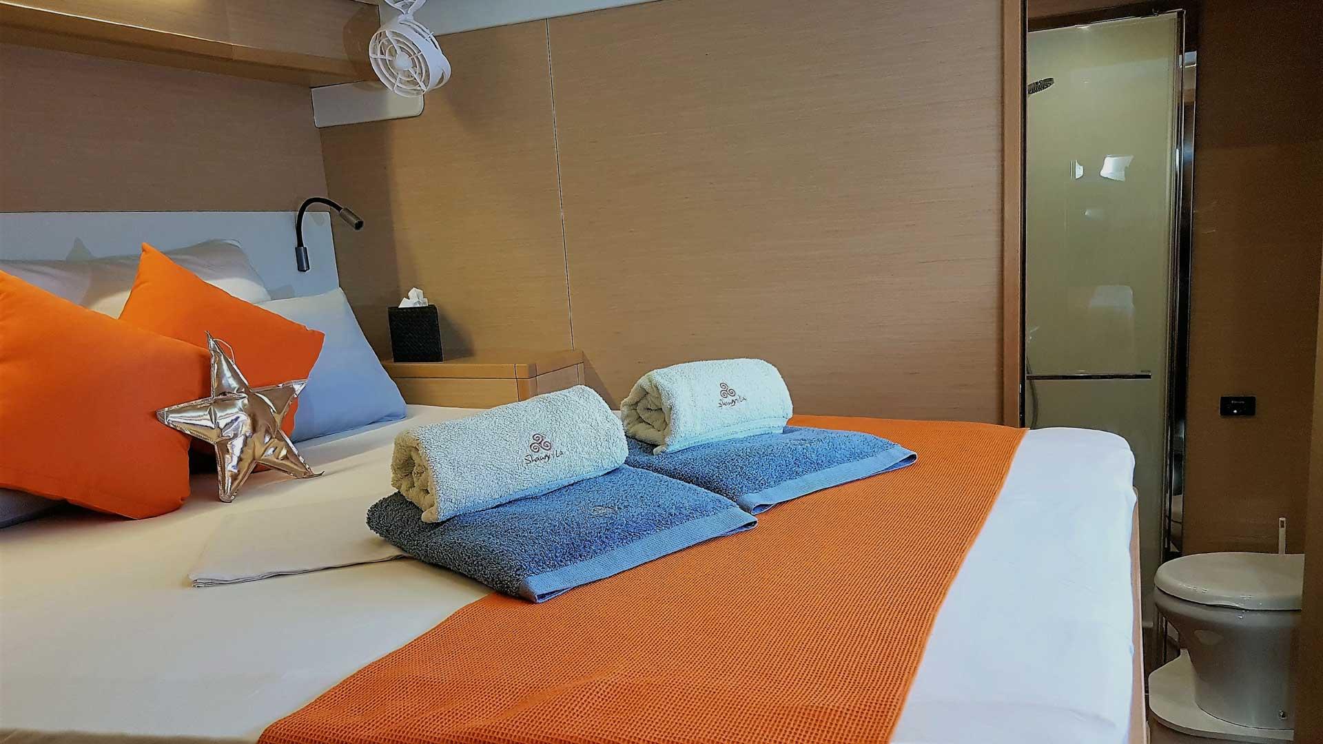 Premium Cabin on Crewed Charter Catamaran