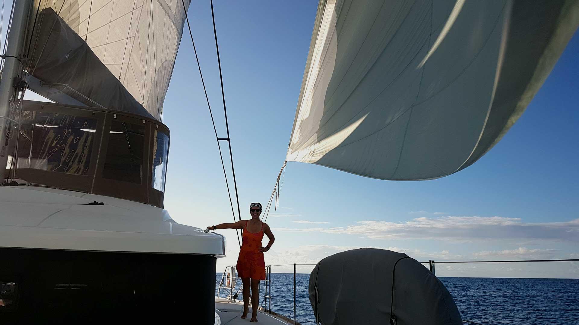 Crewed Catamaran Charter under Sails
