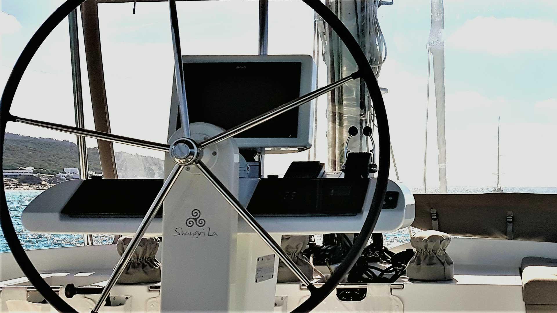 Crewed Catamaran Charter Helm